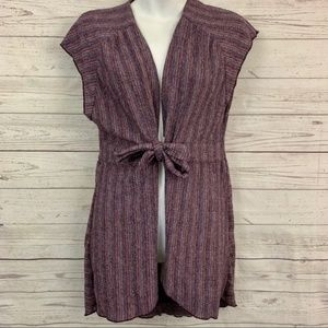 Free People in your eyes striped cardigan tie knot